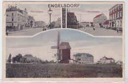 99704 Mehrbild Ak Engelsdorf Hauptstrasse Und Windmühle Um 1925 - Sin Clasificación