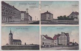 98109 Mehrbild Ak Gruß Aus Engelsdorf Bahnhofstraße, Schule, Villa Guhr Usw.1908 - Sin Clasificación