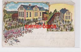02081 Ak Lithografie Gruss Von Der Schönlinder Höhe Inh. Nic. Wölfel 1903 - Zonder Classificatie