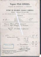 Bill Of Lading For The Fils Conseil, Travel From Bordeaux To Lisbon In 1895. Bordenun. - Portugal