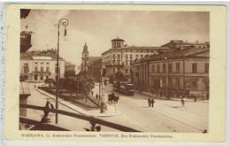 WARSZAWA - VARSOVIE- Rue Krakowski Przedmieście - Tram - Pologne