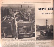 Bruxelles-700 Taudis Au Cœur De La Ville-Marolles-Rue Des Visitandines-Quartier Palais De Justice-Patriote Illustré-1952 - 1950 - Oggi