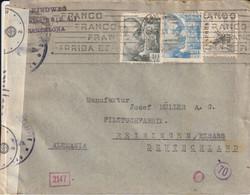 Espagne Lettre Censurée Barcelona Pour L'Allemagne - 1931-50 Brieven