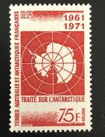 TAAF Yvert N° 39 ** Timbre Magnifique, Neuf Sans Charnière, Traité Sur L'Antartique - Ungebraucht