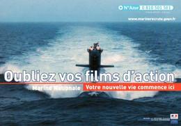 CPM - MARINE NATIONALE - Photo Sous-Marin ... Campagne D'information Sur Les Métiers - Submarines