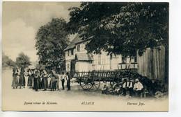 67 ALSACE Joyeux Retour De Moisson Au Village Paysans Et Charette 1920     /D19-2017 - Sin Clasificación