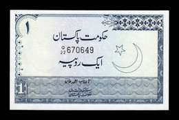 Pakistán 1 Rupee 1977 Pick 24A Sign 2 SC UNC - Pakistan