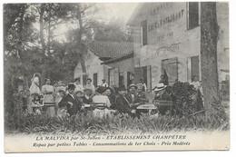 LA MALVINA Par St-Julien - Etablissement Chapêtre, Repas Par Petites Tables - Consomation De 1er Choix... - Saint Barnabé, Saint Julien, Montolivet