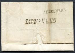 Z2553 PREFILATELICHE STATO PONTIFICIO Piego Con Annullo SAVIGNANO (stampatello Inclinato), Discrete Condizioni - 1. ...-1850 Prephilately