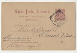 Spain UPU Postal Stationery Postcard Posted 1891 To Germany B210320 - 1850-1931