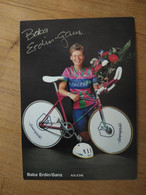 Cyclisme - Carte Publicitaire AKOS ALLEGRO CAMPAGNOLO : Barbara ERDIN GANZ - Signé - Cycling