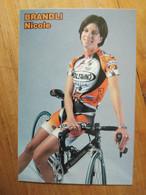 Cyclisme - Carte Publicitaire EDILSAVINO PARKPRE 2001 : Nicole BRANDLI - Ciclismo