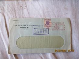 Cuba Lettre Ema  Empreinte Machine Affranchir  Avec Timbre  Antituberculeus Via Transatlantique Clipper Air Mail - Briefe U. Dokumente