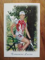 Cyclisme - Carte Publicitaire GRIMAC CARELLI ELEVATORI LAS : Luisa TOMANINI - Ciclismo