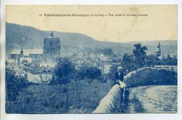 12 VILLEFRANCHE De ROUERGUE 41- Homme Et Son Chien Route Pres Du Village 1927 Timb    /D20-2017 - Villefranche De Rouergue