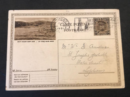 Postkaart Albert I Kepi 40c De Haan Aan Zee - Gebruikt Brugge 3 Bruges - Postcards [1909-34]