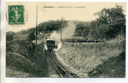 52 LANGRES  Lib Marretet -  - Train Tramway Le Chemin De Fer à Crémaillere   1911 Timb   / D20-2017 - Langres