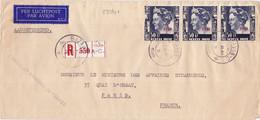 23391# 1947 NEDERLANDS INDIE NETHERLANDS INDIES LETTRE RECOMMANDE PAR AVION PER LUCHRPOST BATAVIA 1948 - Niederländisch-Indien