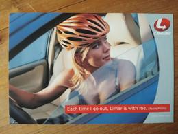 Cyclisme - Carte Publicitaire LIMAR  : Paola PEZZO 1 - Cycling