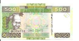 GUINEE 500 FRANCS 2015 UNC P 47 A - Guinea