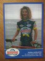 Cyclisme - Carte Publicitaire GELATI SANSON EDERA  1996 : Valeria CAPELLOTTO - Cycling