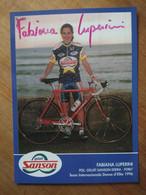 Cyclisme - Carte Publicitaire GELATI SANSON EDERA  1996 : Fabiana LUPERINI  Signé - Cycling