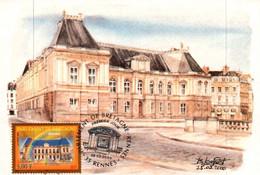 CPM - RENNES - Illustration B.Louviot - Le Parlement De Bretagne - Rennes