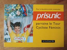 Cyclisme - Dépliant Publicitaire PRISUNIC TOUR CYCLISTE FEMININ 1996 - Cycling
