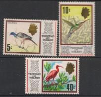 Trinitad & Tobago - 1969 - N°Yv. 233 - 236 - 242 - Oiseaux / Birds - Neuf Luxe ** / MNH / Postfrisch - Non Classificati