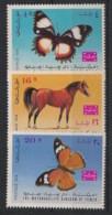 Yemen - 1967 - Taxe TT N°Yv. 9 - Butterflies / Horse - 3 Values - Neuf Luxe ** / MNH / Postfrisch - Yemen