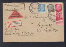 Sudeten Brief 1938 Ruppersdorf Nach Leipzig - Occupazione 1938 – 45