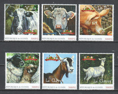 Guinee - MNH FARM ANIMALS - COW - SHEEP - GOAT - PIG - Granjas