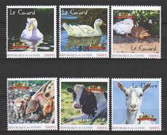 Guinee - MNH FARM ANIMALS - DUCK - PIG - COW - GOAT - Granjas