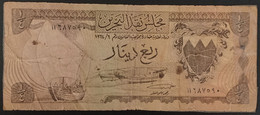 CG0316 - Bahrain 1/4 Dinar Banknote 1964 P.2a - Bahrain