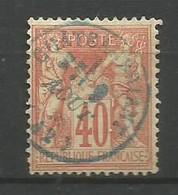 Timbre France  Oblitere  Sage  Type 1 N 70 Cachet Bleu - 1876-1878 Sage (Type I)