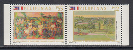 2017 Philippines Links With France Flags Complete Set Of 2 MNH - Filippine