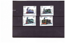 XX3382   -  INDIA  /    SERIE COMPLETA NUOVA **MNH   -   Y&T. Nr. 1186/1189 - Eisenbahnen