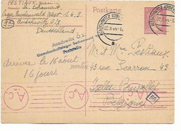 SH 0871. EP ALLEMAGNE Mi P 299 AUSCHWITZ 2.8.44 - Du Camp De BUCHENWALD Vers Ixelles - Censures D' Auschwitz Et AACHEN. - Covers