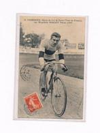 G. PASSERIEU 1910 SUR PISTE ET CYCLISTE DU TOUR DE FRANCE SUR PEUGEOT - Ciclismo
