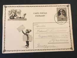 Postkaart Koningin Astrid 50c - Gebruikt Hergenrath - AK [1909-34]