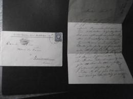 Deutsches Reich Mi. 42 (zf) Brief Im Grenzrayon 1889 Kirchhofen/Baden 1889 + Inhalt Nach Lausanne - Covers & Documents