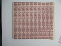 Cote Des Somalis  Feuille De 50 Ex.  N° 148  Neuf **   Gomme Coloniale Plié En Deux   Voir Scan - Neufs