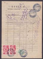 USSR 1939 Stamps On Document (2) - Covers & Documents