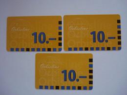 3 Cartes Prépayées à Identifier ( Utilisée ). Petit Prix De Départ. - Unknown Origin