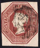 Timbre Grande Bretagne 10 Pence Relief Reine Victoria Brown SG57 Die 2 Sans Défaut - Used Stamps