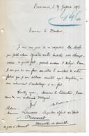 54 - BACCARAT -1893 -  Lettre De Mr LAMASSE, Inspecteur Adjoint Des Forêts - Commande De Bouteilles Dites Champenoises - 1800 – 1899