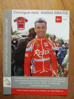 Cyclisme - Carte Publicitaire Souple COLCHON RELAX FUENLABRADA VUELTA 2003 - Radsport