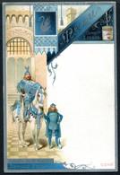 Z2675 MENU LIEBIG Paladin Du St. Gréal, Armure D'Argent, Testo In Francese, Nuovo, Ottime Condizioni - Menus