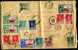Z2683 IRAN PERSIA 1943 Busta Grande Formato Affrancata Con 16 Valori (2 Sul Retro) Di Varie Emissioni, Da Teheran 23.11. - Iran