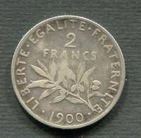 RARE 2 FRANCS SEMEUSE  ARGENT 1900 TB - I. 2 Francs